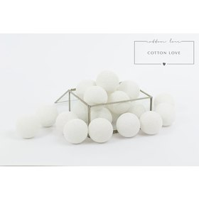 Baumwolle leuchtend LED Kügelchen Cotton Balls - white, cotton love